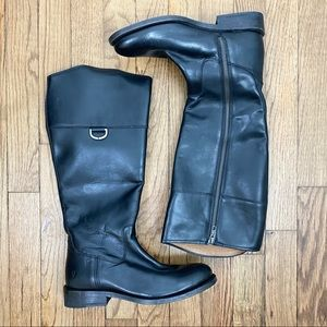 Frye Black Leather Riding Boots 6